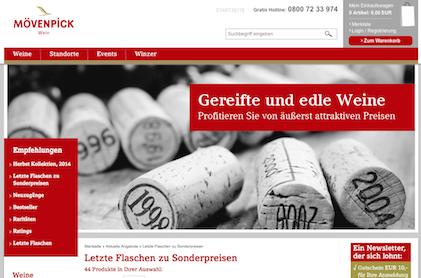 Moevenpick Wein Gutschein