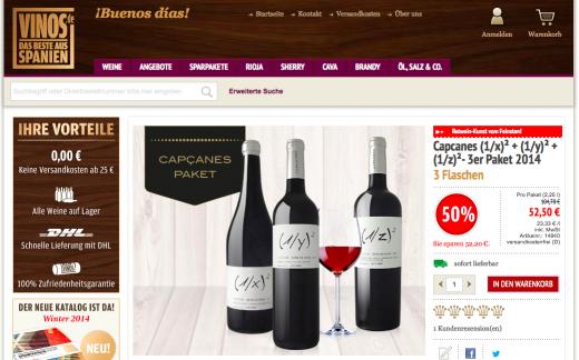 Wein und Vinos Gutschein