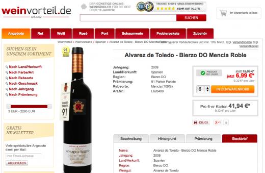 Weinvorteil Angebot