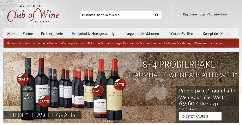 club of wine gutschein webweinschule. Black Bedroom Furniture Sets. Home Design Ideas