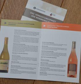 Wein Probierpaket Begleitheft