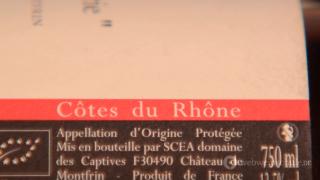 Cotes du Rhone Etikett